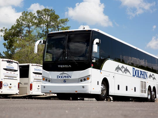 Dolphin Transportation Specialists recently upgraded its fleet with nine new state-of-the-art buses. This one, a TEMSA TS45, holds 55 passengers.