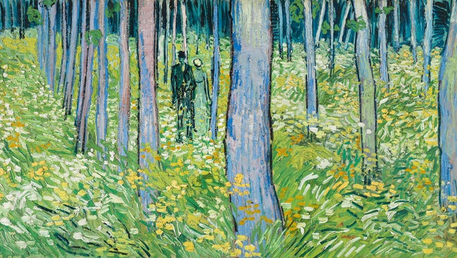 Vincent van Gogh (1853–1890), Undergrowth with Two Figures, June 1890, oil on canvas, 19 ½ x 39 ¼ in. (49.5 x 99.7 cm), Cincinnati Art Museum; Bequest of Mary E. Johnston.