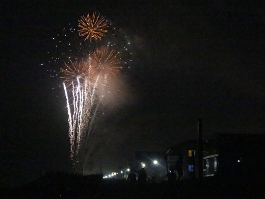 Bethany Beach provided the area with a beautiful display