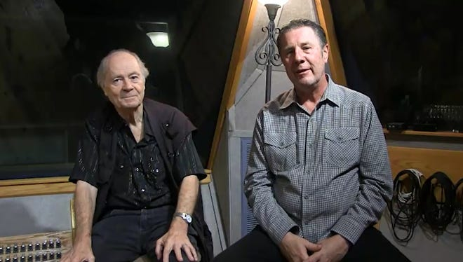 Kenny O'Dell, left, with Bart Herbison, right