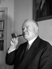 Former President Herbert Hoover, photographed in New York on Nov. 5, 1942. He was president of the U.S. from 1929-33.
