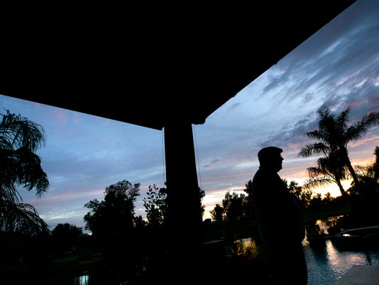 The desert sun sets at York native Bruce Arians' home in Chandler, Ariz., in June. The Arizona Cardinals head coach is just one of many people connected to southcentral Pennsylvania who are living in the Phoenix area.