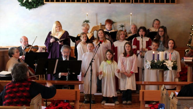 Members of Gatlinburg First United Methodist Church perform at last year's Christmas Concert and Carol-Sing.