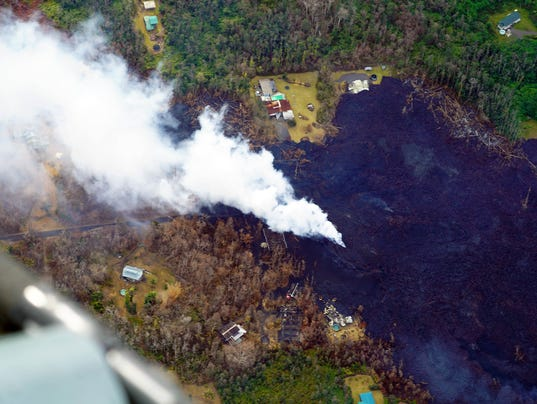 Hawaii volcano: rife with anxiety
