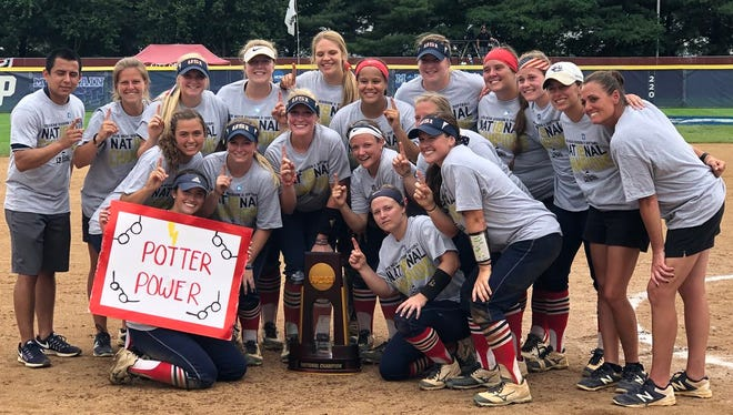 The University of Southern Indiana softball team won a national championship on Monday in Salem, Virginia.