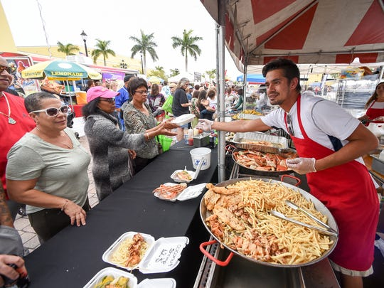 The Port St. Lucie Seafood Festival is 10 a.m. to 8 p.m. Saturday and 10 a.m. to 6 p.m. Sunday at the MIDFLORIDA Credit Union Event Center, formerly Port St. Lucie Civic Center, 9221 S.E. Civic Center Place.