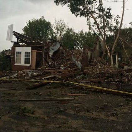 Historic building crumbled by Wednesday's storm.