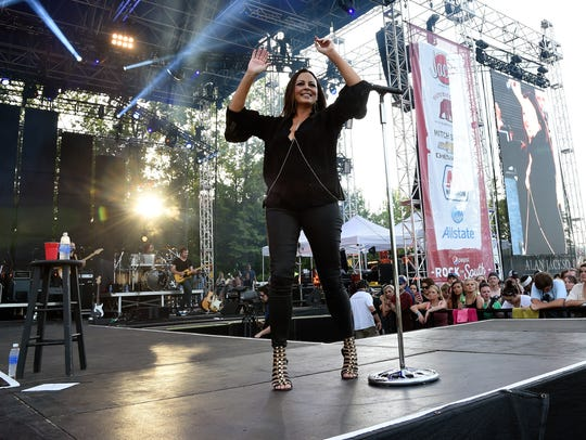 Singer/Songwriter Sara Evans performs during The 4th