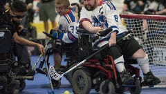 They're driven, not disabled: Wheelchair hockey players really get after it