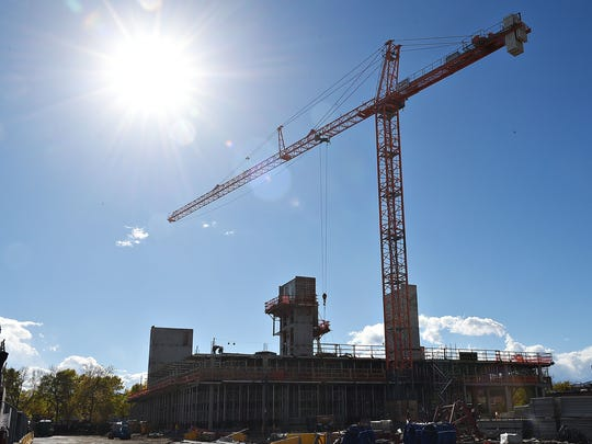 Construction continues on the Elizabeth Hotel in Old Town Fort Collins on October 5, 2016.