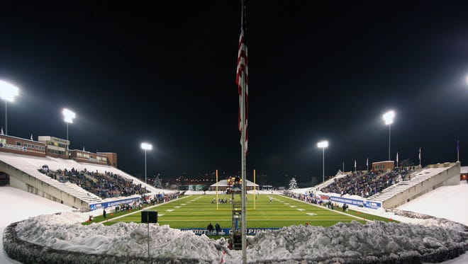 Salem Football Stadium was the host of the 2009 Stagg Bowl, played hours after an 18-inch snowfall blanketed Virginia.