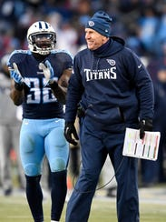 Titans head coach Mike Mularkey likes what he sees