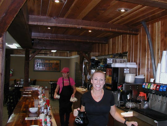 Country Café's speedy server is Nada McCaig, who in