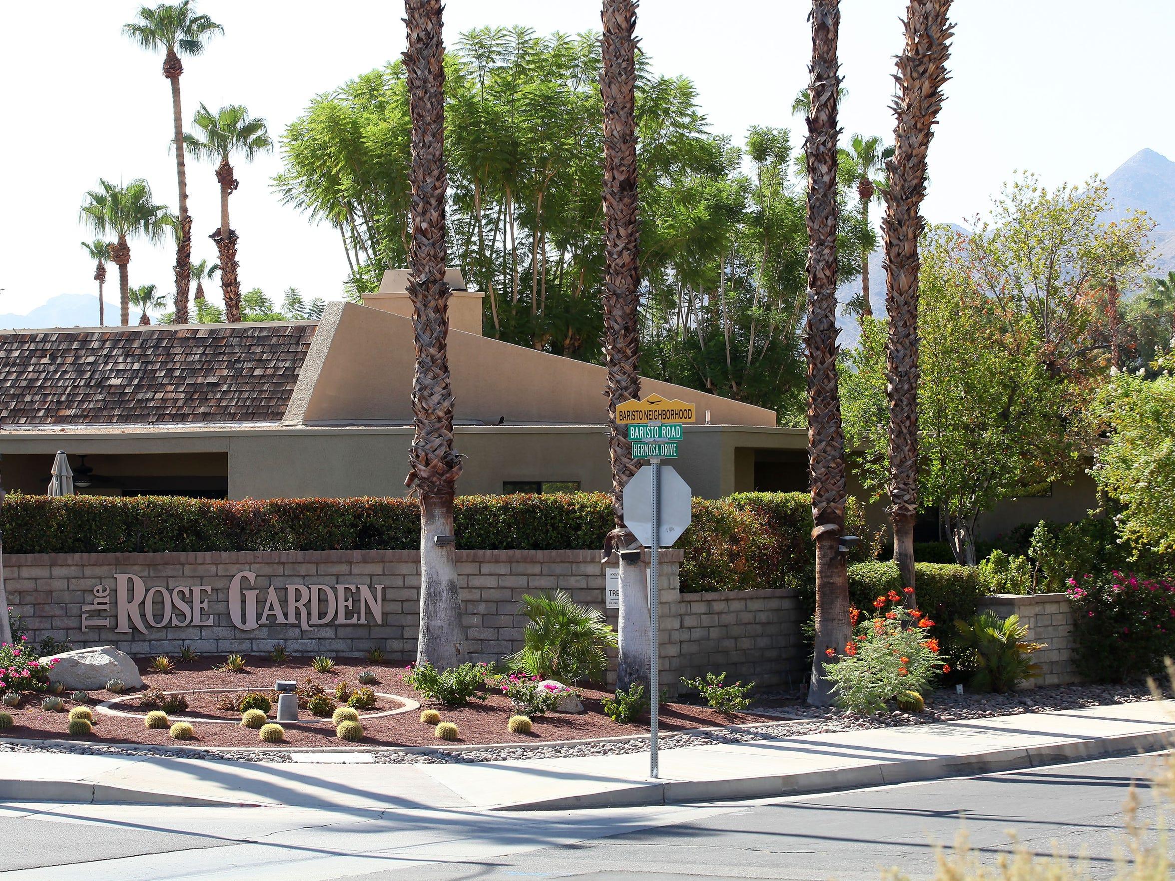 The Rose Garden neighborhood in Palm Springs at Baristo