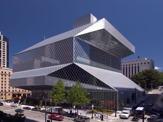 The Rem Koolhaas-designed Seattle Central Library building