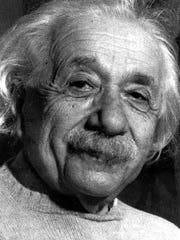 This is a 1955 file photo of Albert Einstein.