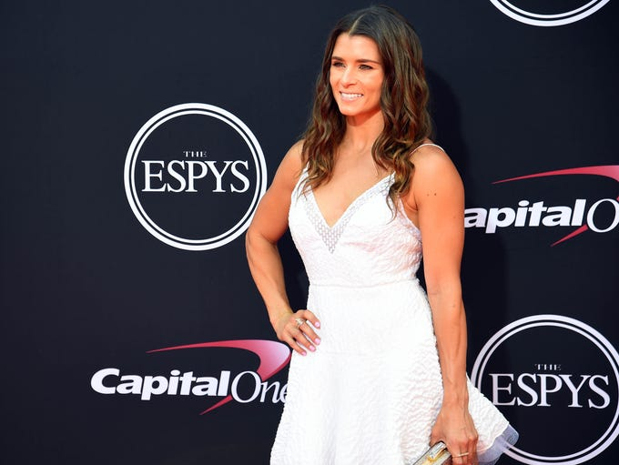 Danica Patrick arrives for the 2017 ESPY Awards.