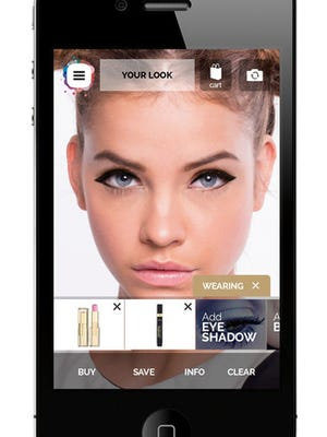 Apply makeup to your face in real time using this app.
