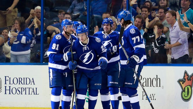 Tampa Bay Lightning left wing Jonathan Drouin (27) could have a breakout 2015-16 campaign.