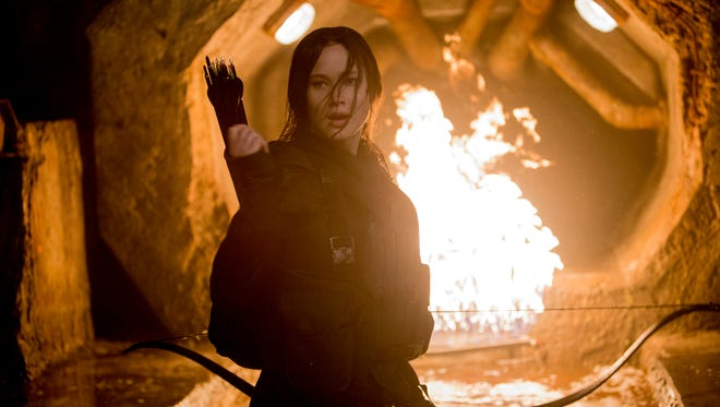 """Jennifer Lawrence picks up the bow one last time in """"The Hunger Games: Mockingjay - Part 2."""""""