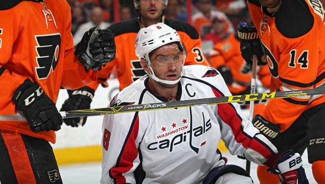 Alex Ovechkin had two points in four games against the Flyers this season and they'll be focused on him more than ever in the playoffs.