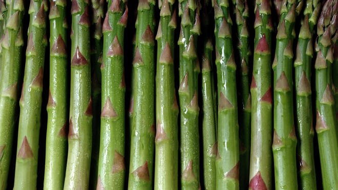 Asparagus spears should be ready to harvest in May. Getty Images