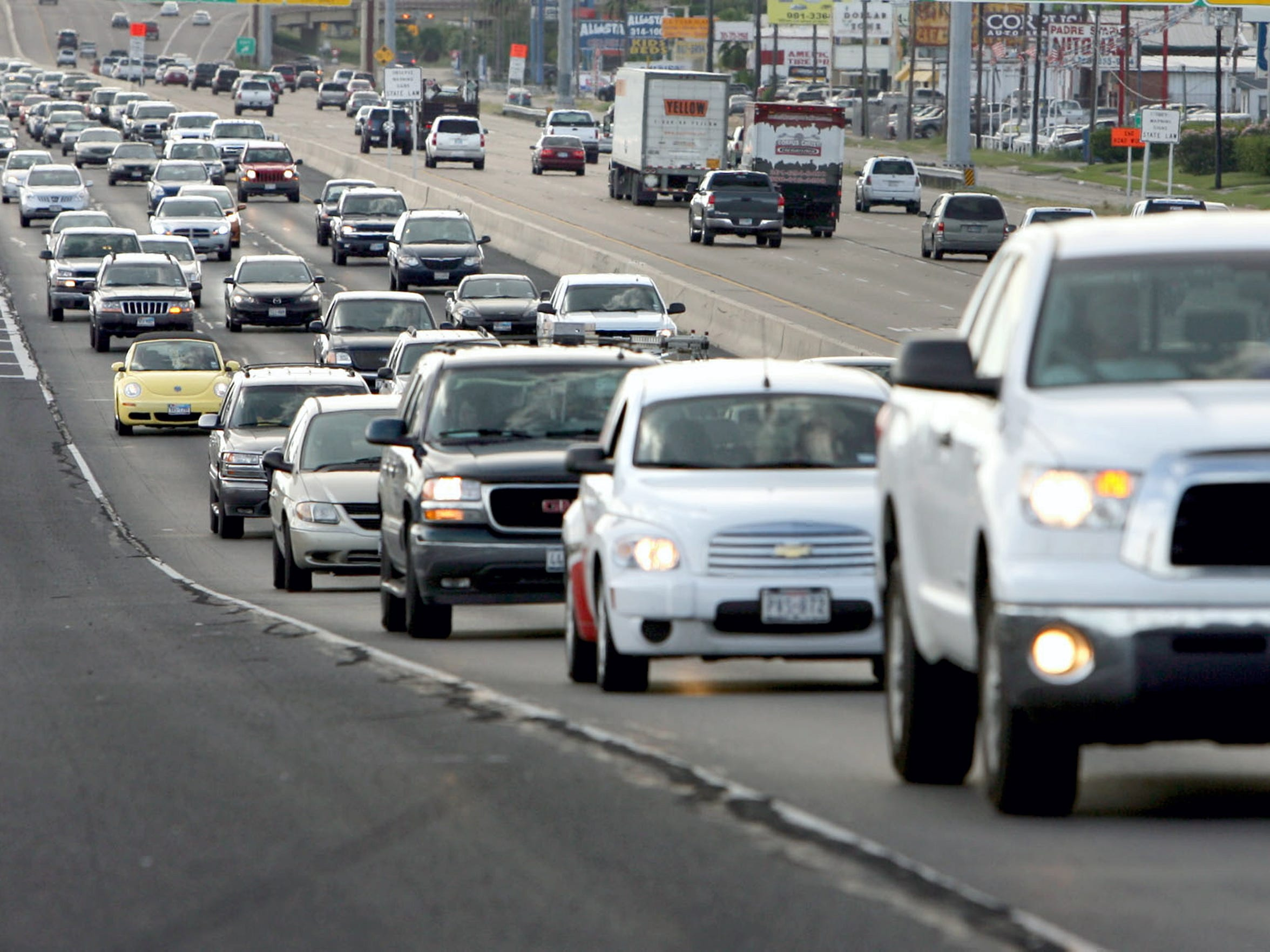 TODD YATES/CALLER-TIMES In this 2010 file photo, rush-hour traffic crowds South Padre Island Drive. The highway has become more congested over the years as more development springs up on the city's Southside.