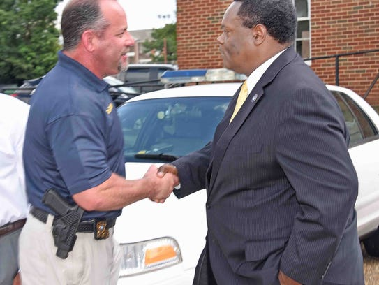 The city of Monroe donated two police cars to Grambling