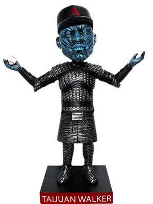 "The Taijuan (White) Walker bobblehead for the Diamondbacks' ""Game of Thrones"" night in July."
