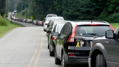 Traffic on Bunker Hill Road Friday was snarled due to the EST Fest at Ohio Dreams near Butler.