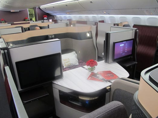 Qatar Airways' new 'Qsuite' business class seats are