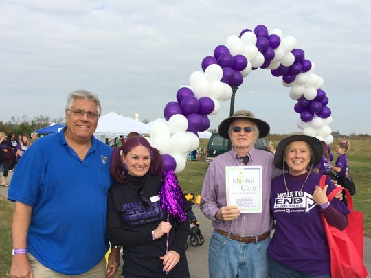 A team from Mindful Care adult day services participated in the recent Alzheimer's Memory Walk. From left are Tom Tozer, Jamie Watters, Vince O'Brien and Tina O'Brien.