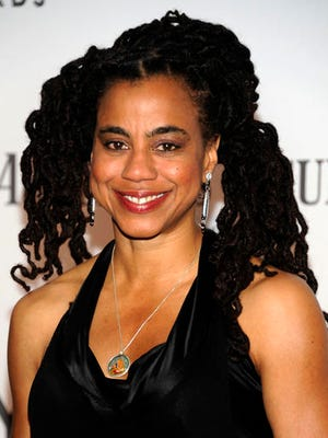 """FILE - In a June 10, 2012, file photo, playwright and screenwriter Suzan-Lori Parks arrives at the 66th Annual Tony Awards, in New York. Parks, best known for her Pulitzer Prize-winning play """"Topdog/Underdog,"""" received a PEN award for """"Master American Dramatist,"""" PEN announced Wednesday, Feb. 22, 2017."""