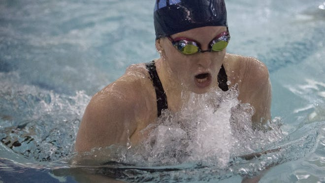 IHA's Catherine Fazio competes in 200-yard IM at the Bergen County Meet of Champions on Jan. 30, 2016.