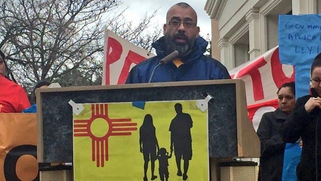"Jose ""Pancho"" Olivas speaks during a Jan. 18 press conference announcing the wage theft lawsuit."