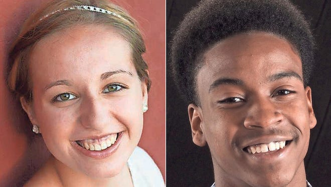 Hannah Dornfeld and Aaron Gholston of Little Chute Career Pathways Academyl are this week's top scholars.