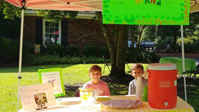 The Newkirk brothers opened their third annual lemonade stand on July 28. Luke, 10, and Cole, 8, enjoyed selling their Pop's fresh lemonade to family and friends. They are donating part of their proceeds to the ROCK 3-4-5 Youth Ministry at Springfield United Methodist Church. They are the sons of Ben and Lori Newkirk and grandsons of Sandra and Michael Moore and        Glenda and Roy Newkirk.