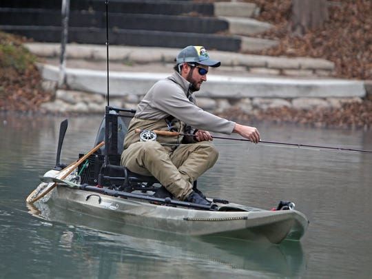 Most angler who access the rainbows and brows released into the Guadalupe River use kayaks or simply walk in at designated spots, some public, some private.