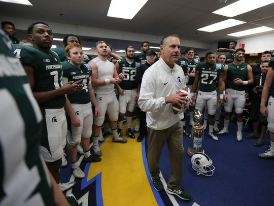 Michigan State football coach Mark Dantonio.
