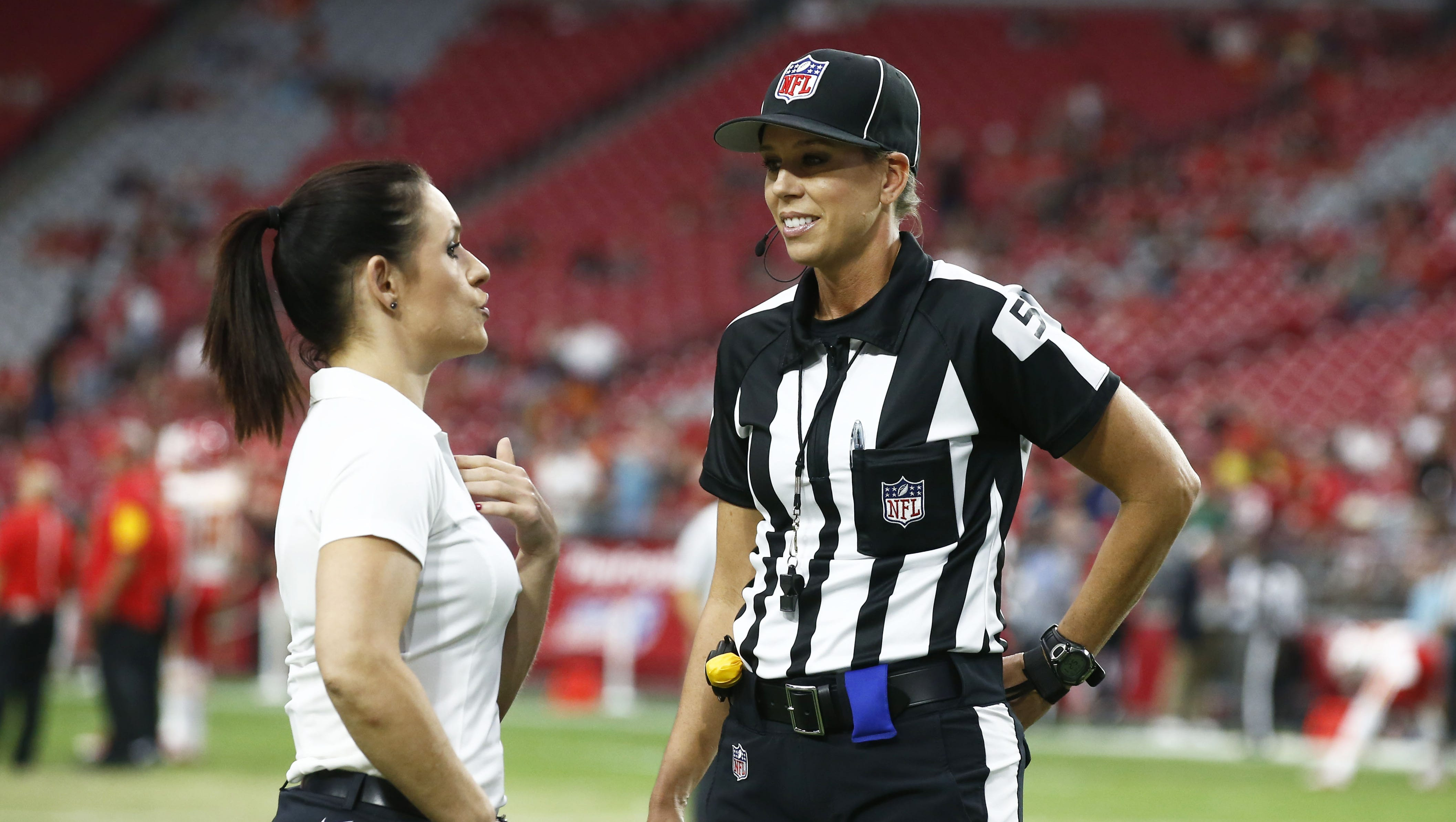 Arizona Cardinals coach Jen Welter teams up with official Sarah Thomas for  night of NFL firsts