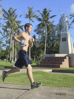 Kyle Daly, an avid runner, says the key ingredient to running long distances is imagination.