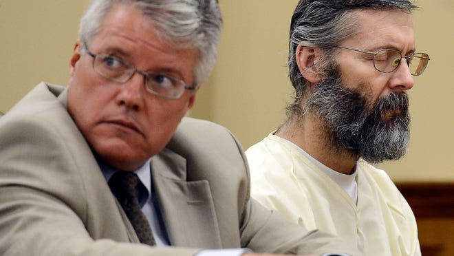 Richard Parker sits with his public defender Bill Cather during a motion hearing at the Wilson County Criminal Justice Center in Lebanon on Friday. Parker is accused of killing his mother- and father-in-law.