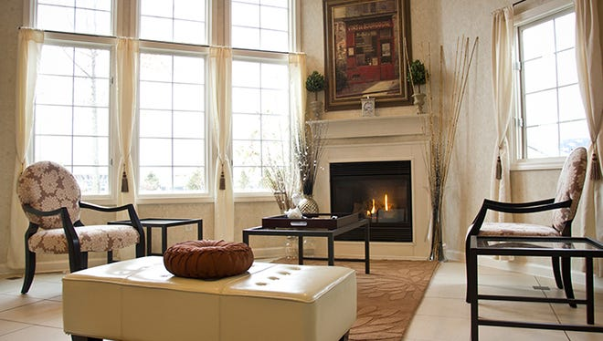 The lobby of the Belamere Suites in Perrysburg, Ohio, near Toledo.