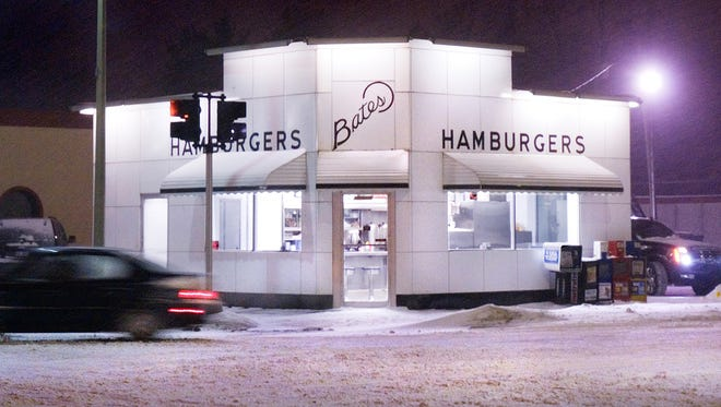 Bates, still open at 9:30pm on a snowy February night in 2011.