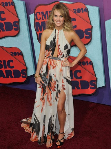 Carrie Underwood arrives at the CMT Music Awards on June 4, 2014 in Nashville, Tenn. Underwood won the Video of the Year award during the ceremony.
