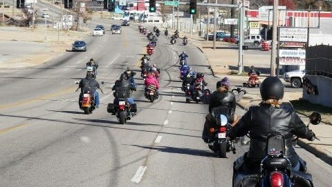 Nearly 100 bikes are expected to make the ride from downtown Mountain Home to the Fraternal Order of Eagles Aerie 3183 in Midway as part of the 17th annual Mountain Home District 16 of A.B.A.T.E. toy run to benefit the Christmas Wish program.