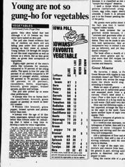 The Des Moines Register in 1979 featured an Iowa Poll