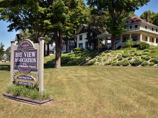Bay View, Michigan, is situated along U.S. 31 just east of Petoskey, Michigan,  Thursday, June 14, 2018. A lawsuit is hoping to change membership rules to allow non-Christians to join the Methodist community.