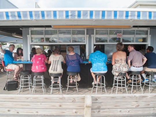 Exterior of The Clam Bar at Smith's Marina, aka Smitty's,