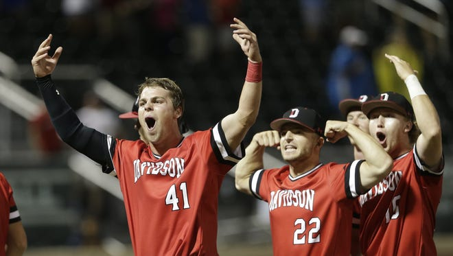 Davidson College's Will Robertson (41), a Greenville native and former Christ Church player, is a finalist for the award given to Division I's breakout baseball player of the year.